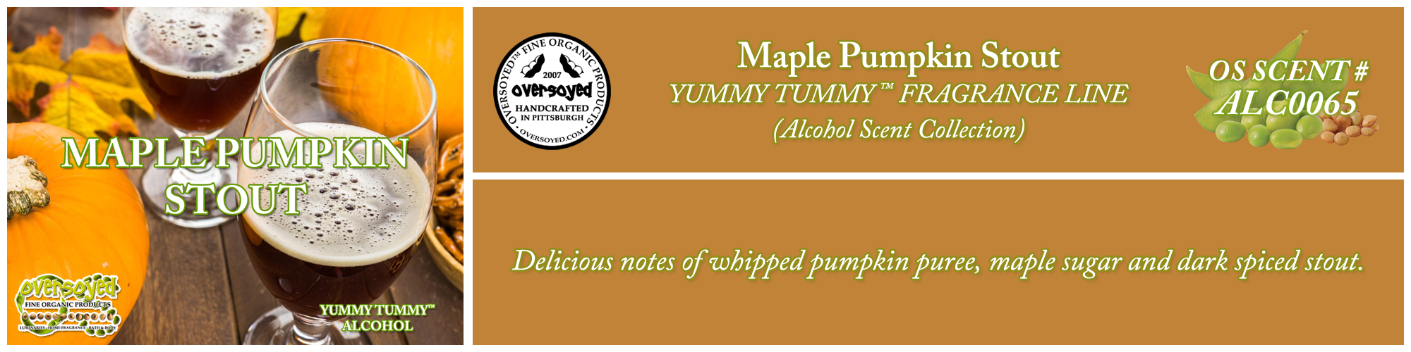 Maple Pumpkin Stout Handcrafted Products Collection