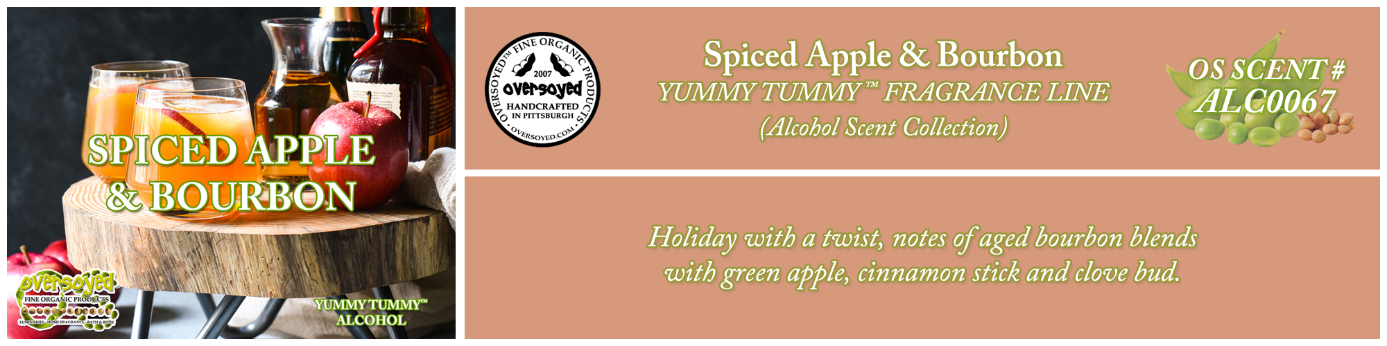 Spiced Apple & Bourbon Handcrafted Products Collection