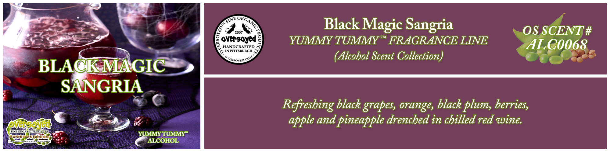 Black Magic Sangria Handcrafted Products Collection