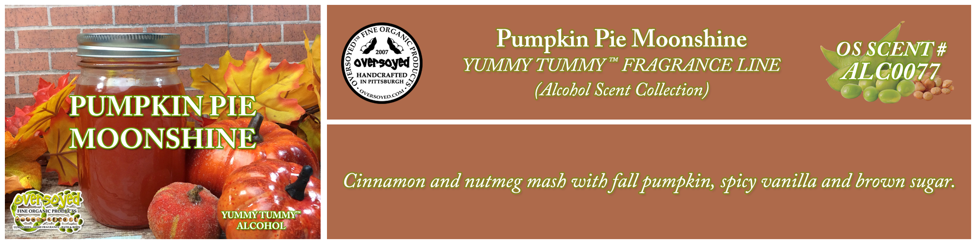 Pumpkin Pie Moonshine Handcrafted Products Collection