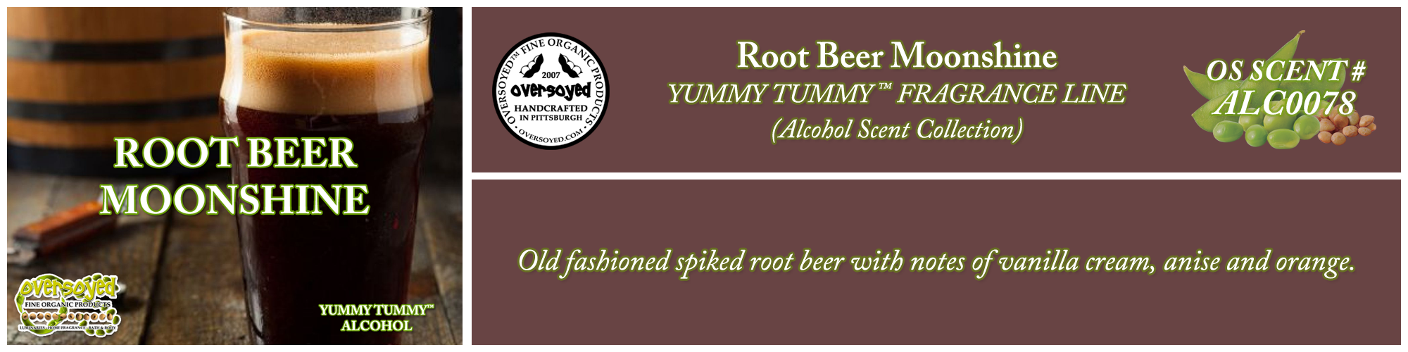 Root Beer Moonshine Handcrafted Products Collection