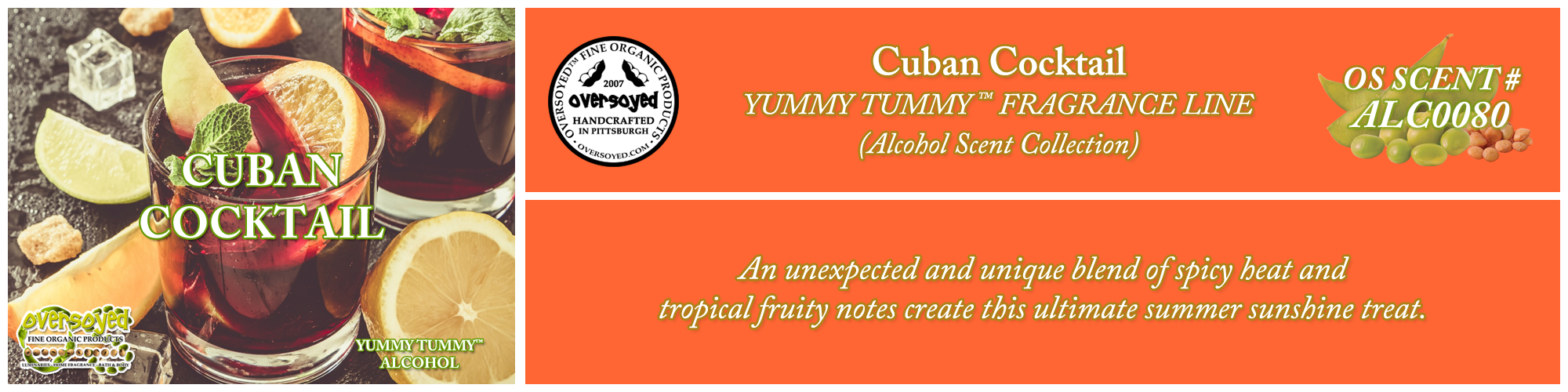 Cuban Cocktail Handcrafted Products Collection
