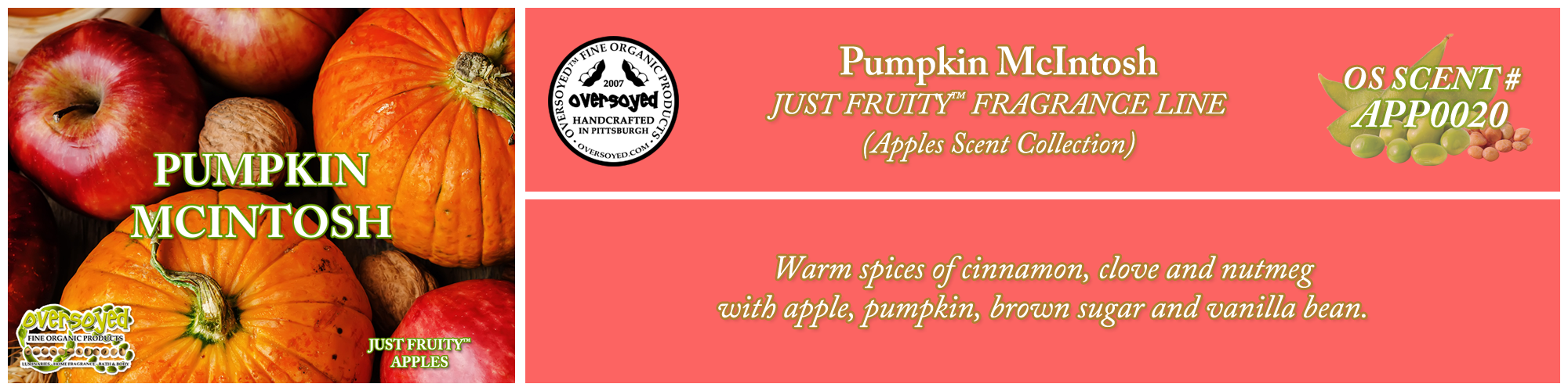 Pumpkin McIntosh Handcrafted Products Collection
