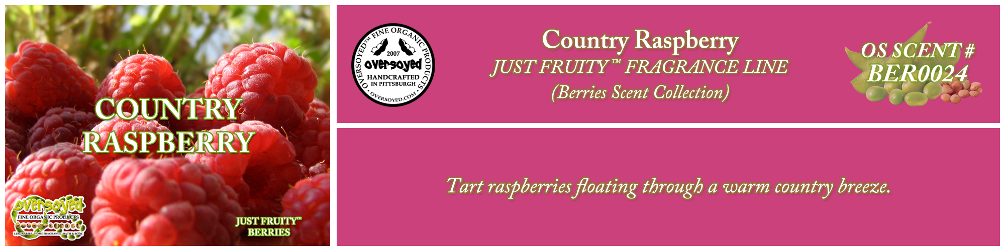 Country Raspberry Handcrafted Products Collection