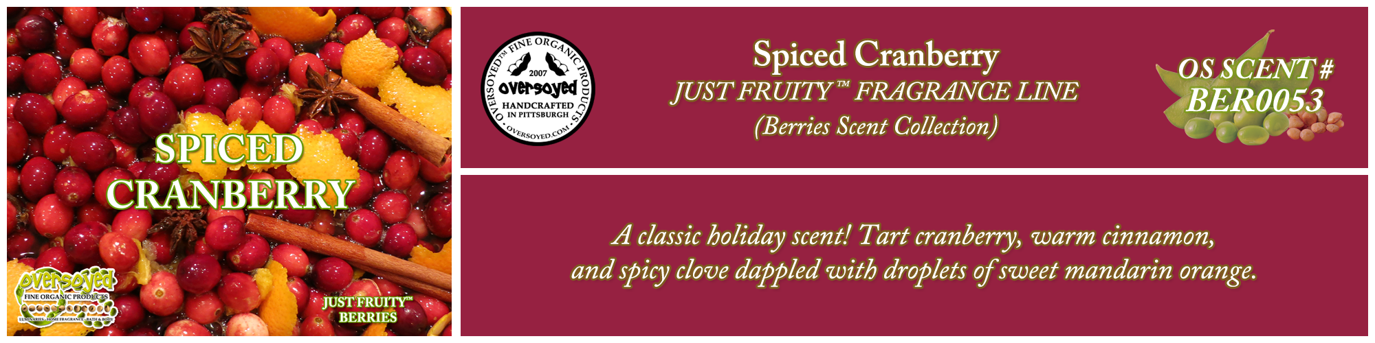 Spiced Cranberry Handcrafted Products Collection
