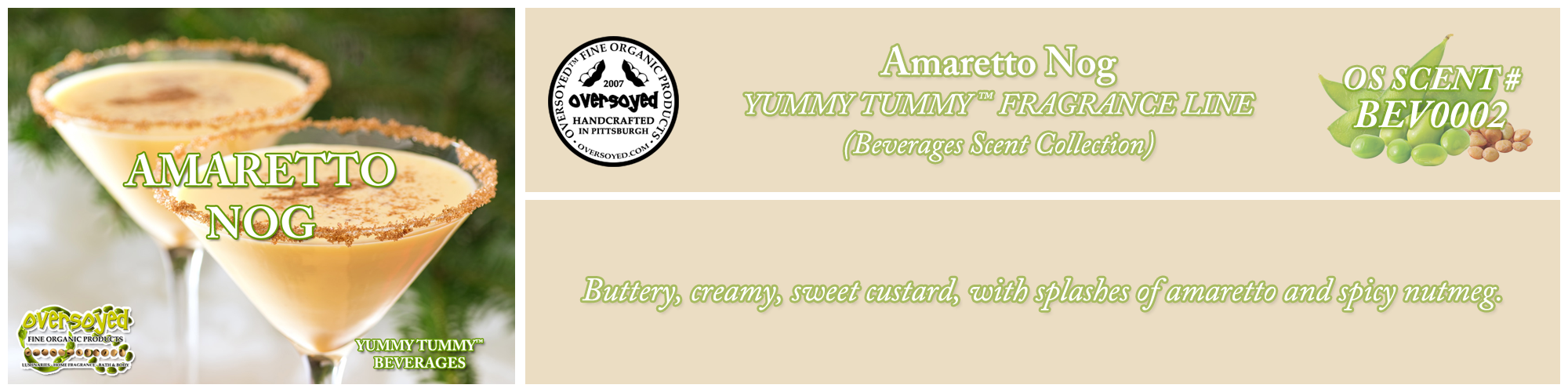 Amaretto Nog Handcrafted Products Collection