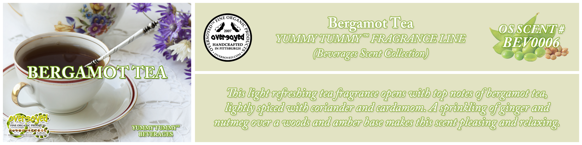 Bergamot Tea Handcrafted Products Collection