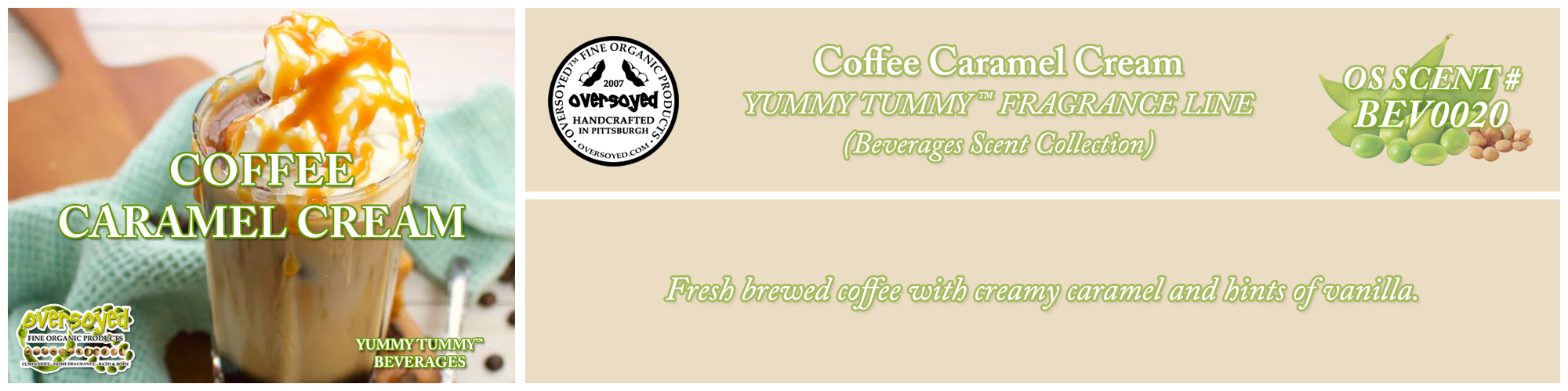 Coffee Caramel Cream Handcrafted Products Collection