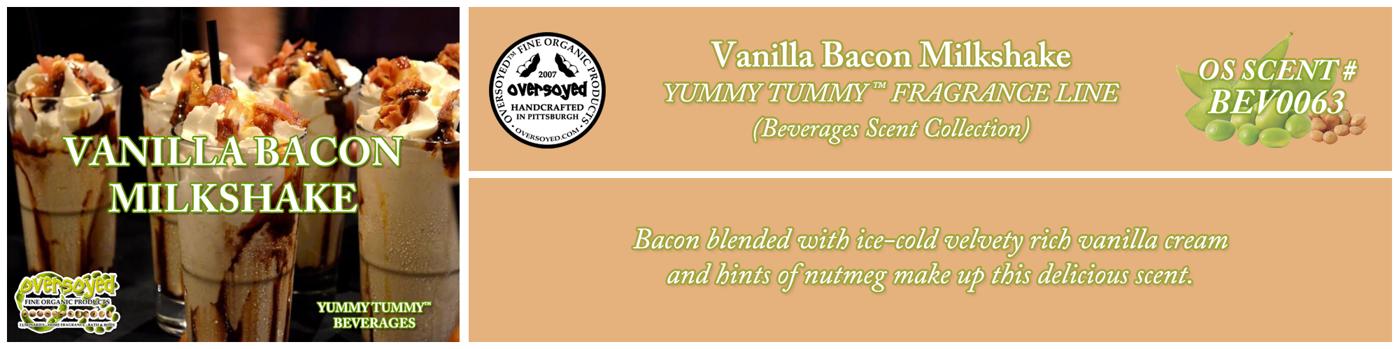 Vanilla Bacon Milkshake Handcrafted Products Collection