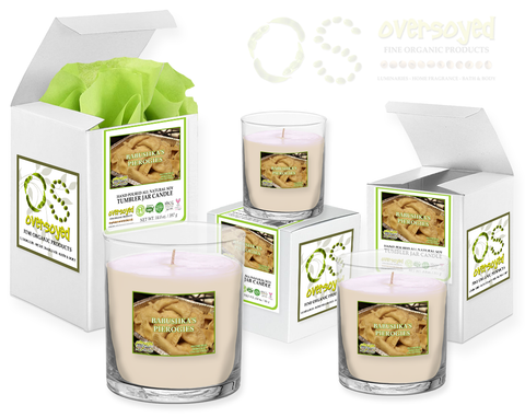 OverSoyed Fine Organic Products - Pittsburgh Heritage Collection - Series 02 - Babushka's Pierogies - Scented Soy Tumbler Candles