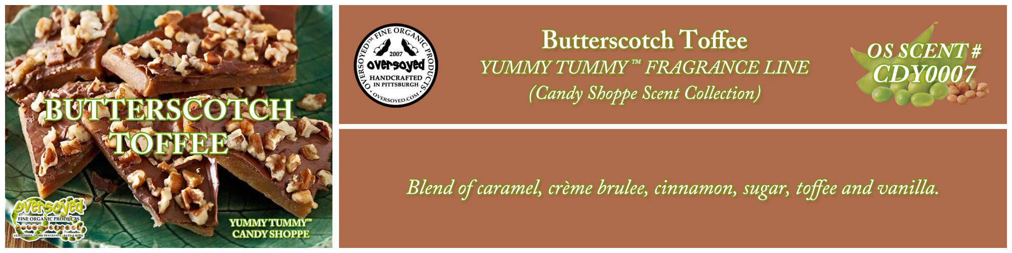 Butterscotch Toffee Handcrafted Products Collection