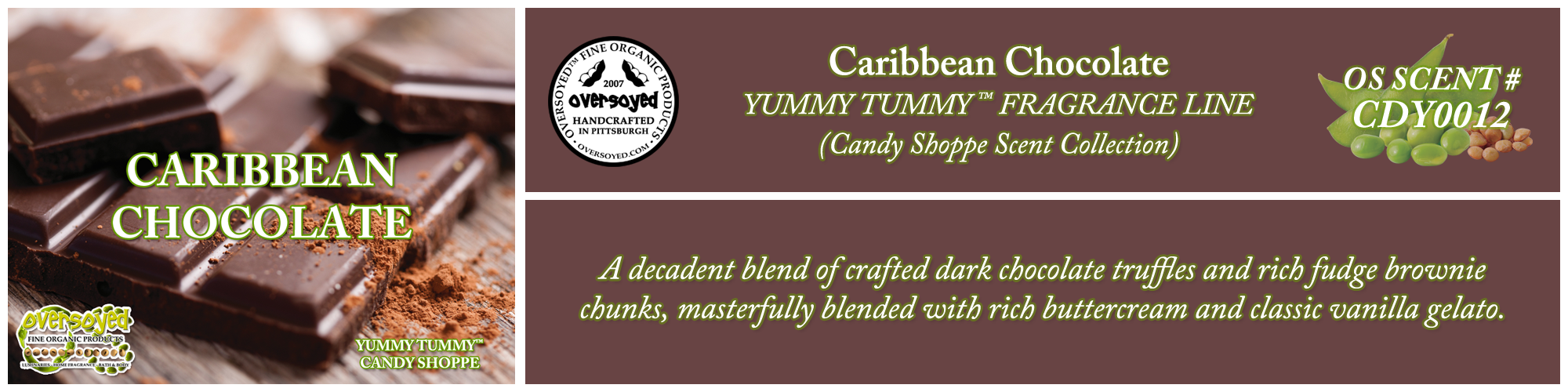 Caribbean Chocolate Handcrafted Products Collection