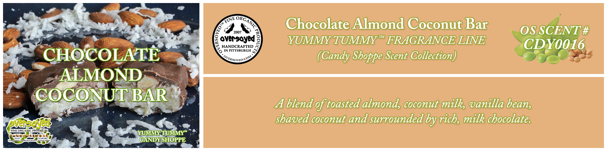 Chocolate Almond Coconut Bar Handcrafted Products Collection