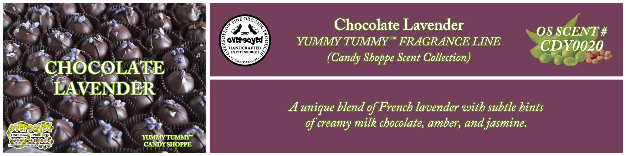 Chocolate Lavender Handcrafted Products Collection