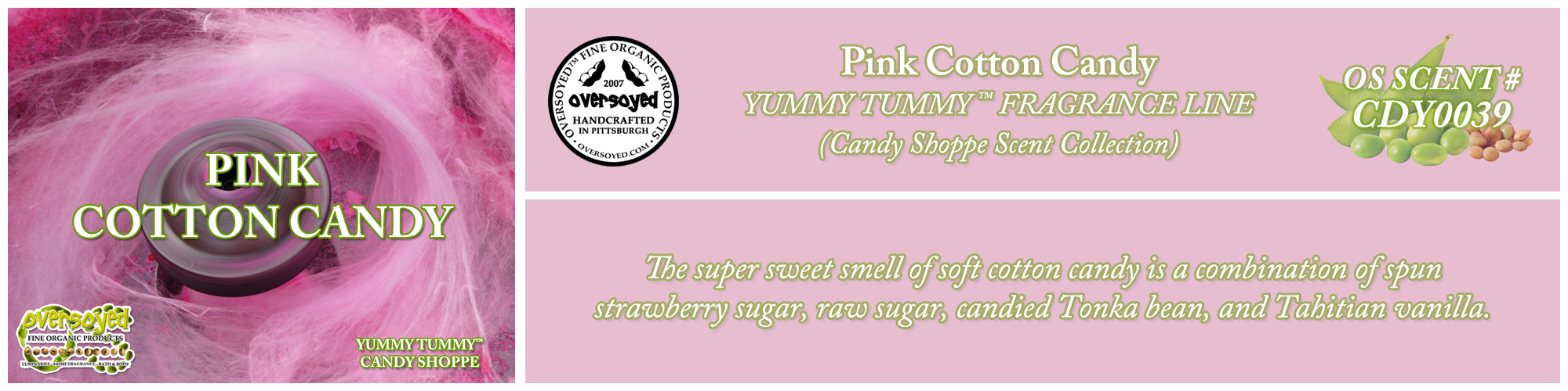 Pink Cotton Candy Handcrafted Products Collection