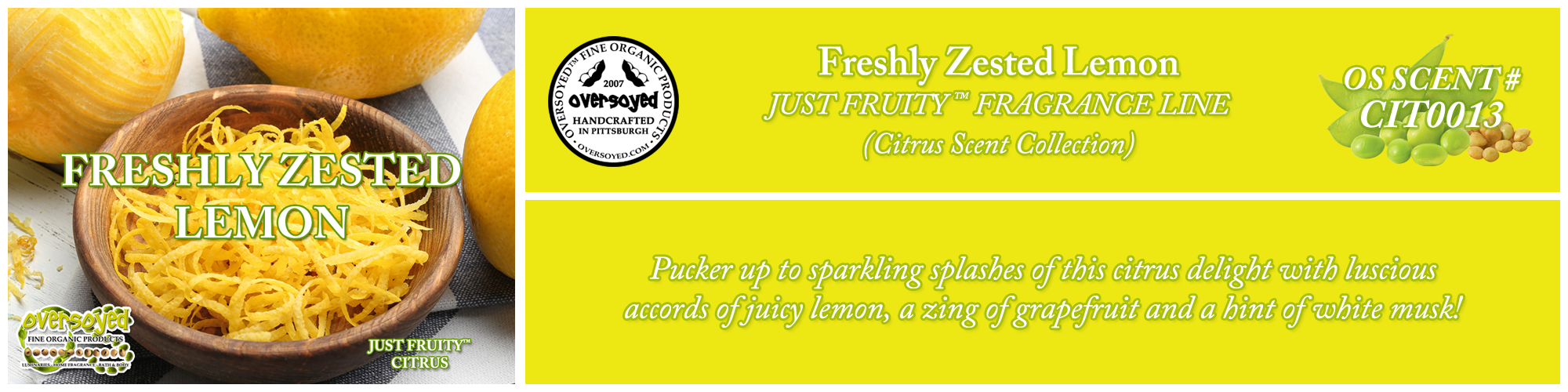Freshly Zested Lemon Handcrafted Products Collection