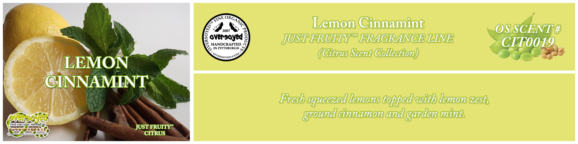 Lemon Cinnamint Handcrafted Products Collection