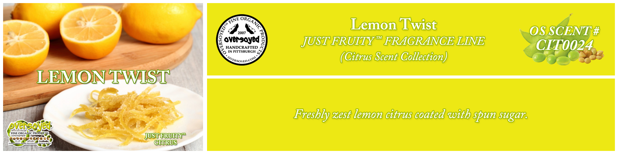 Lemon Twist Handcrafted Products Collection