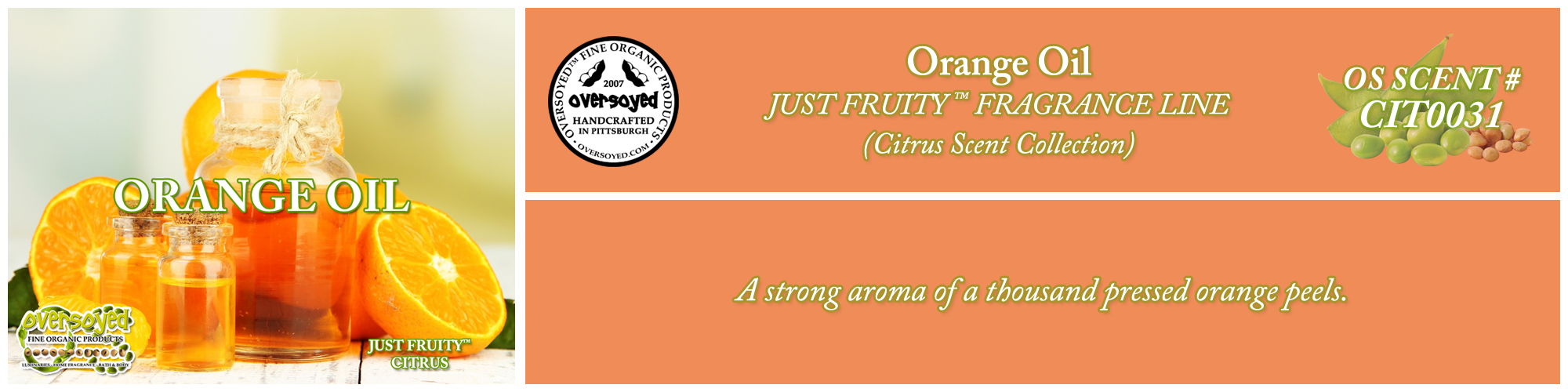 Orange Oil Handcrafted Products Collection