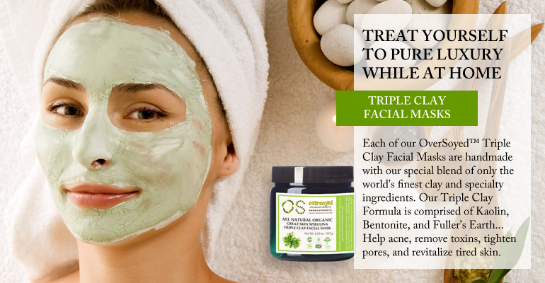 OverSoyed Fine Organic Products - Triple Clay Facial Masks