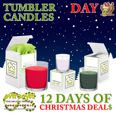 OverSoyed 12 Days of Deals - Hand Poured Soy Candles