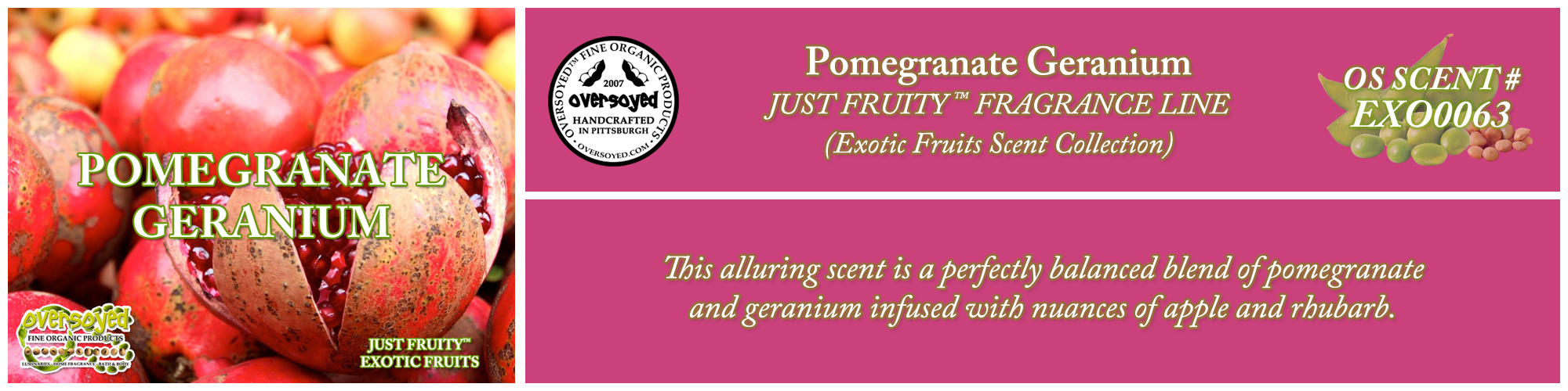 Pomegranate Geranium Handcrafted Products Collection