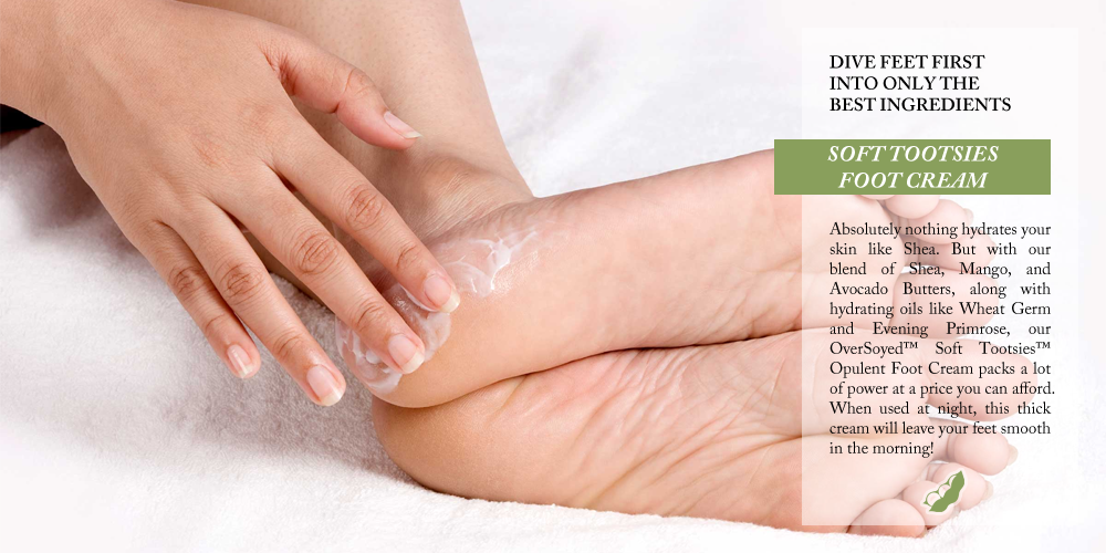 OverSoyed Fine Organic Products - Soft Tootsies™ Opulent Foot Cream