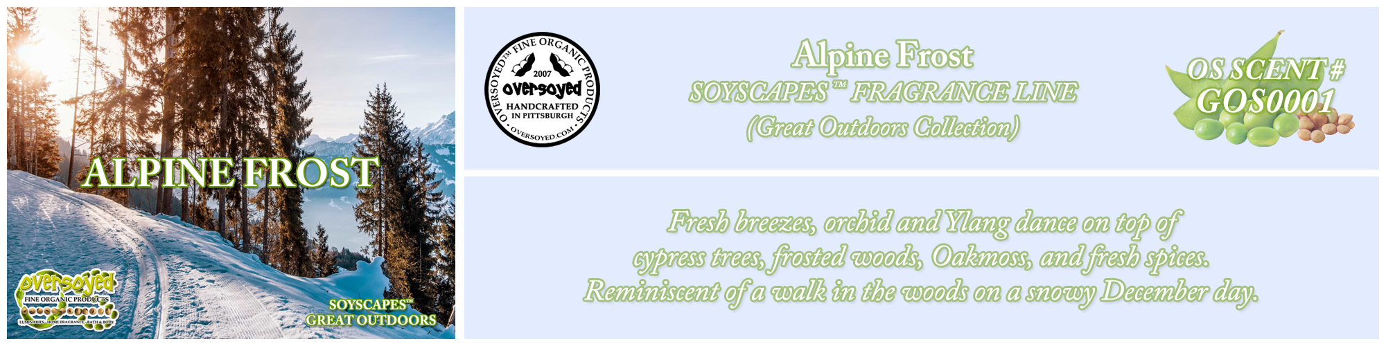 Alpine Frost Handcrafted Products Collection