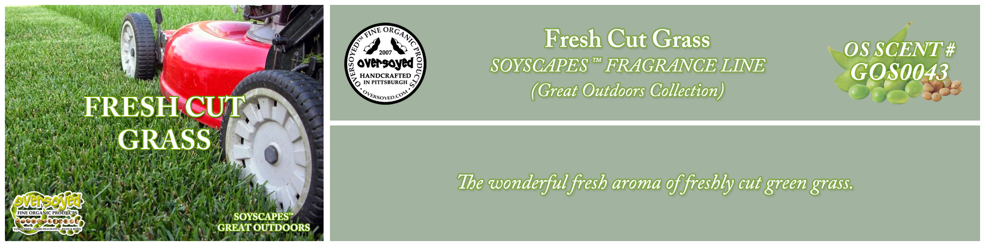 Fresh Cut Grass Handcrafted Products Collection