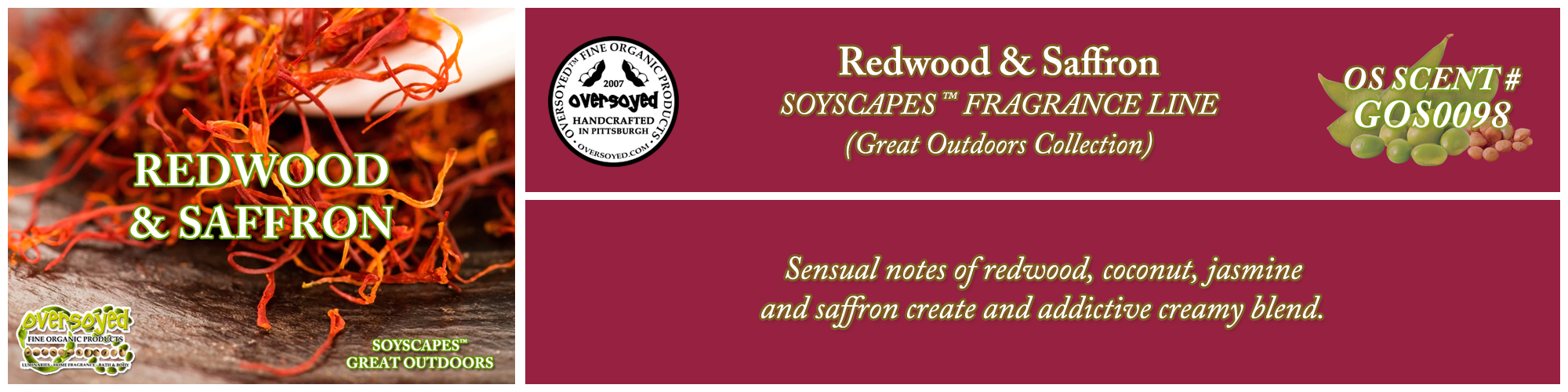 Redwood & Saffron Handcrafted Products Collection