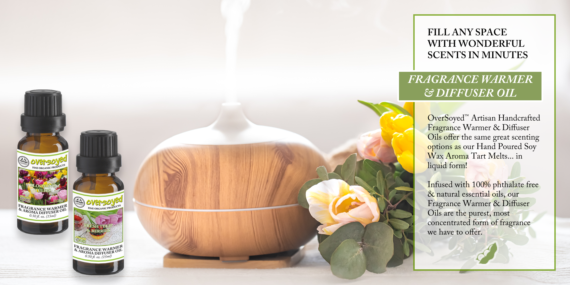 OverSoyed Fine Organic Products - Artisan Handcrafted Fragrance Warmer & Diffuser Oils