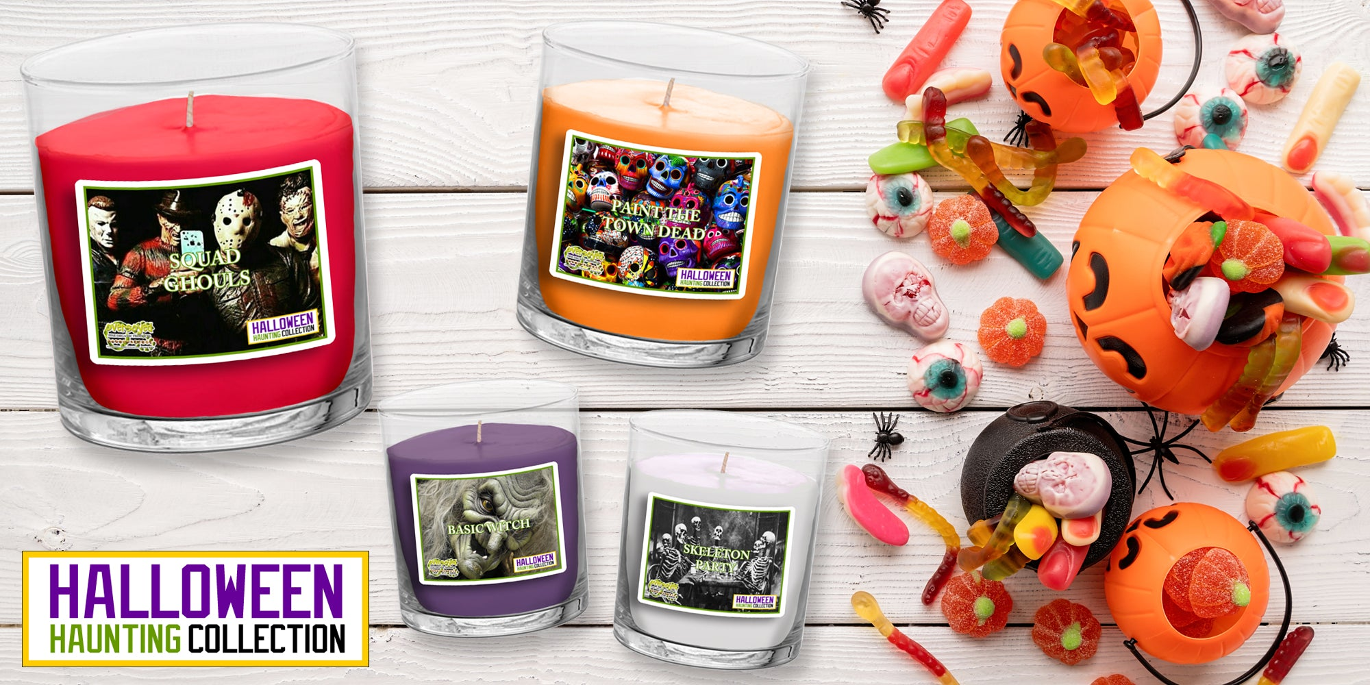 OverSoyed Fine Organic Products - Halloween Haunting Soy Candle Collection