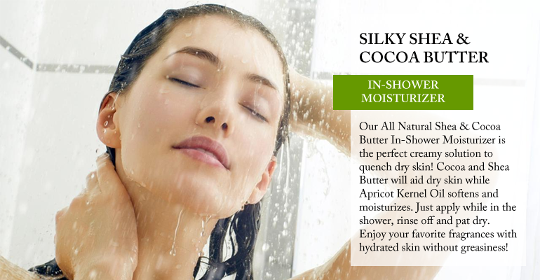 OverSoyed Fine Organic Products - Shea & Cocoa Butter In-Shower Moisturizer