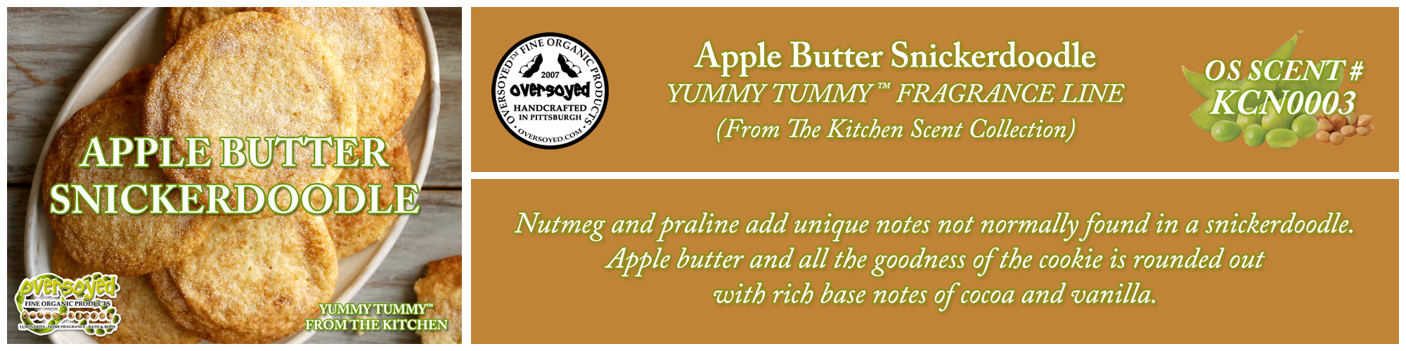 Apple Butter Snickerdoodle Handcrafted Products Collection