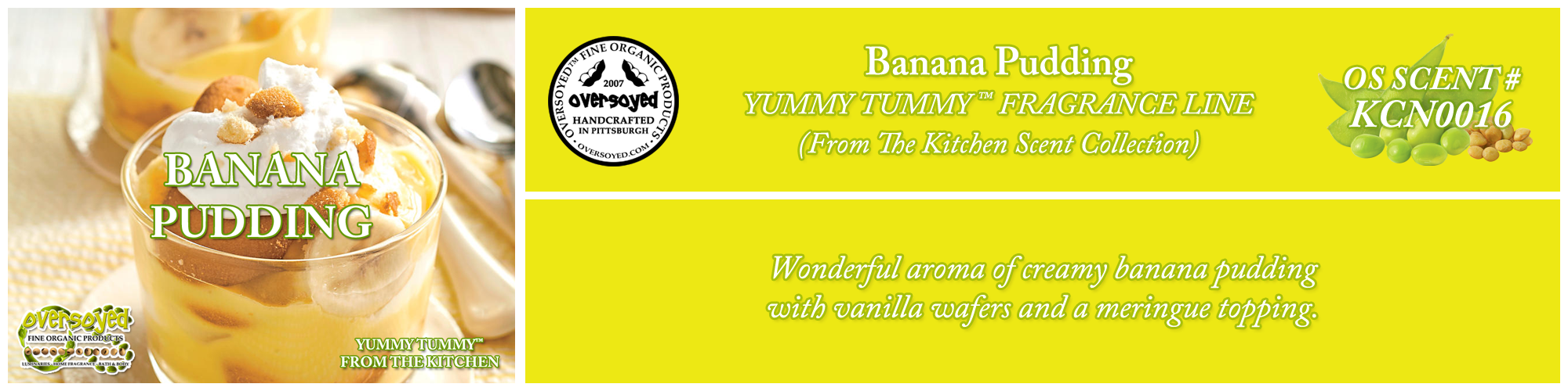 Banana Pudding Handcrafted Products Collection