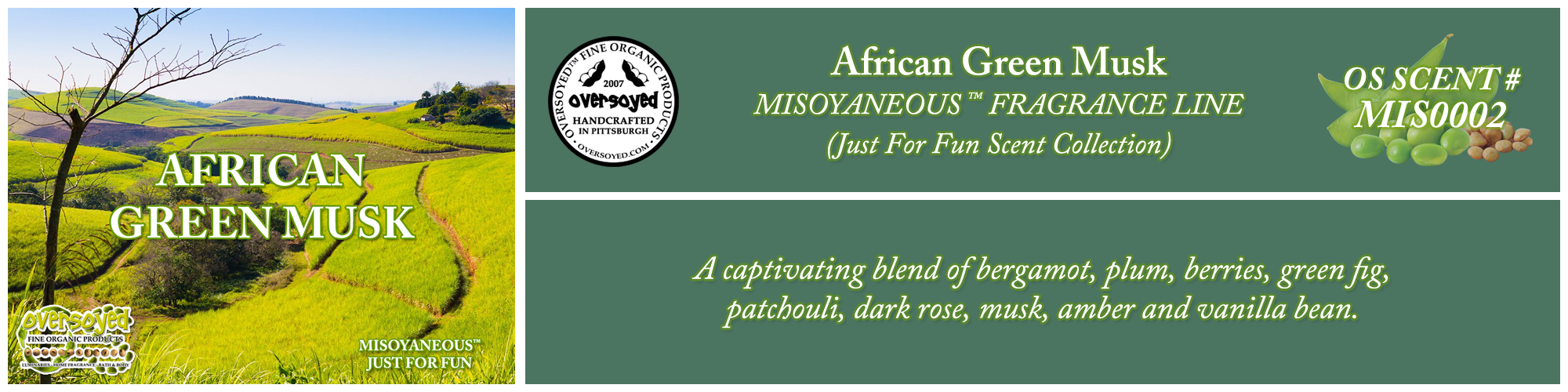 African Green Musk Handcrafted Products Collection