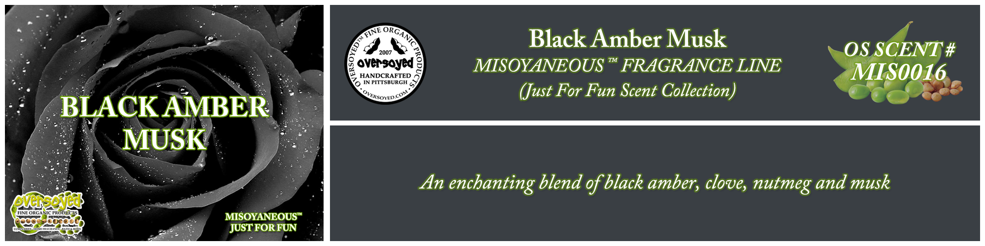 Black Amber Musk Handcrafted Products Collection