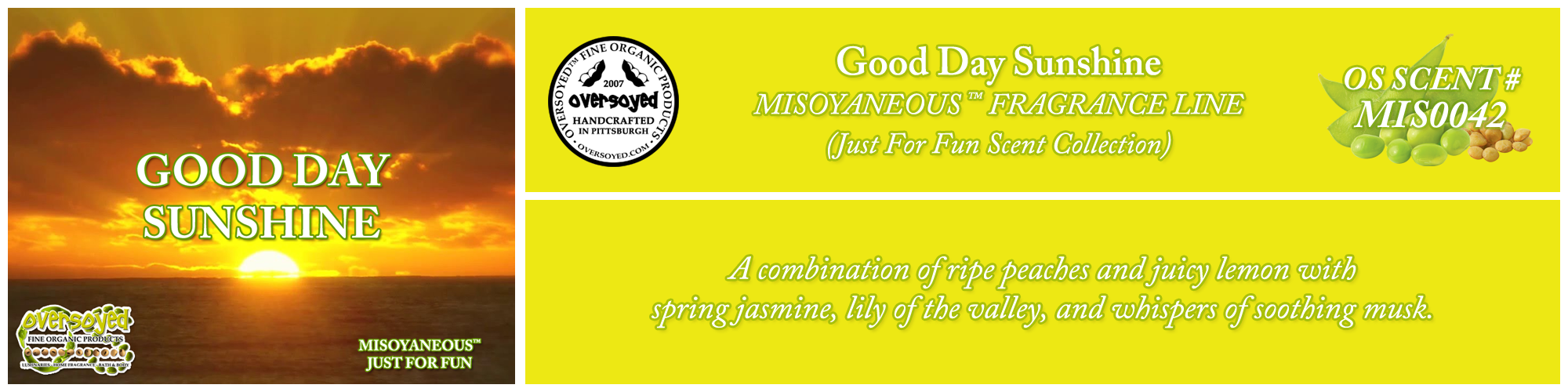 Good Day Sunshine Handcrafted Products Collection