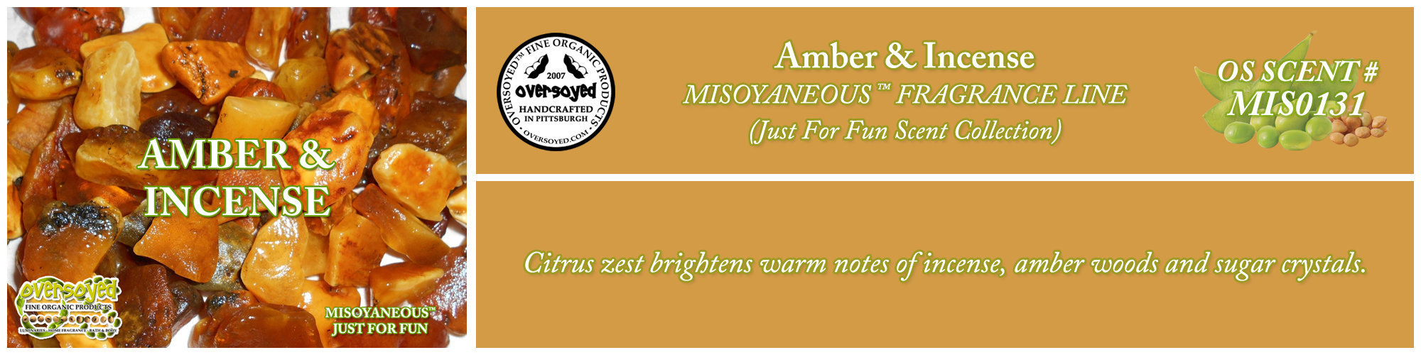 Amber & Incense Handcrafted Products Collection