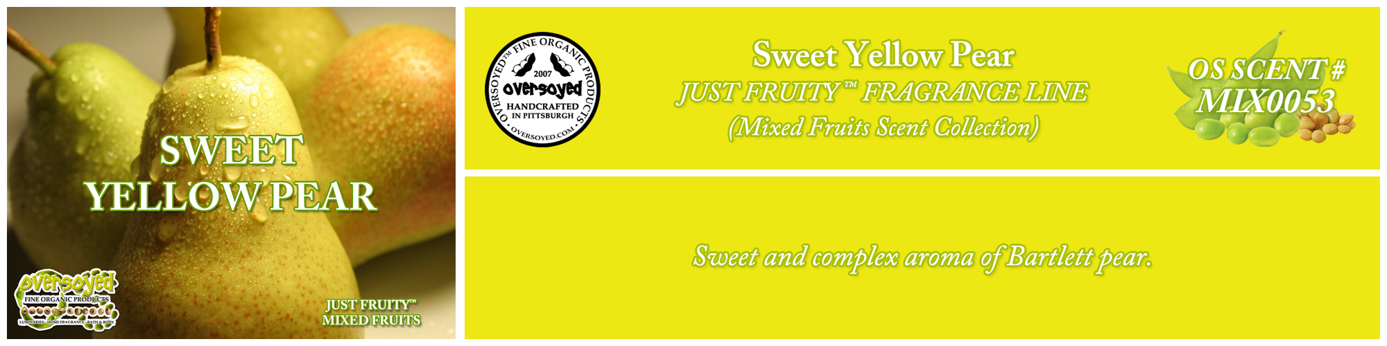 Sweet Yellow Pear Handcrafted Products Collection