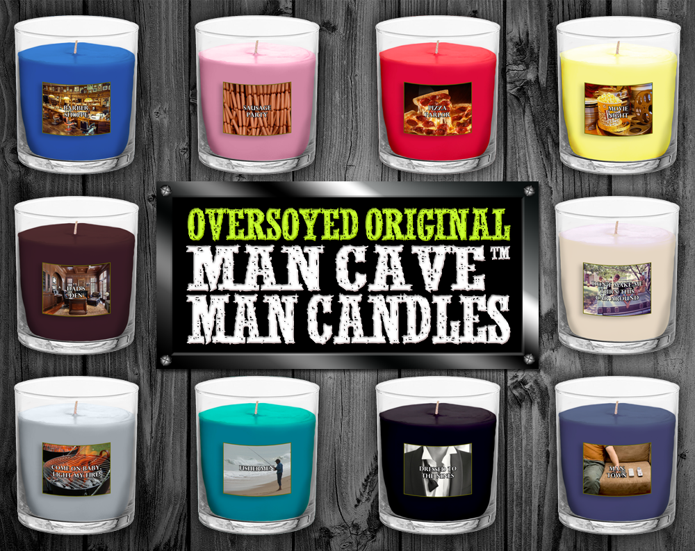 OverSoyed™ Original Man Cave™ Man Candle Mini Collections