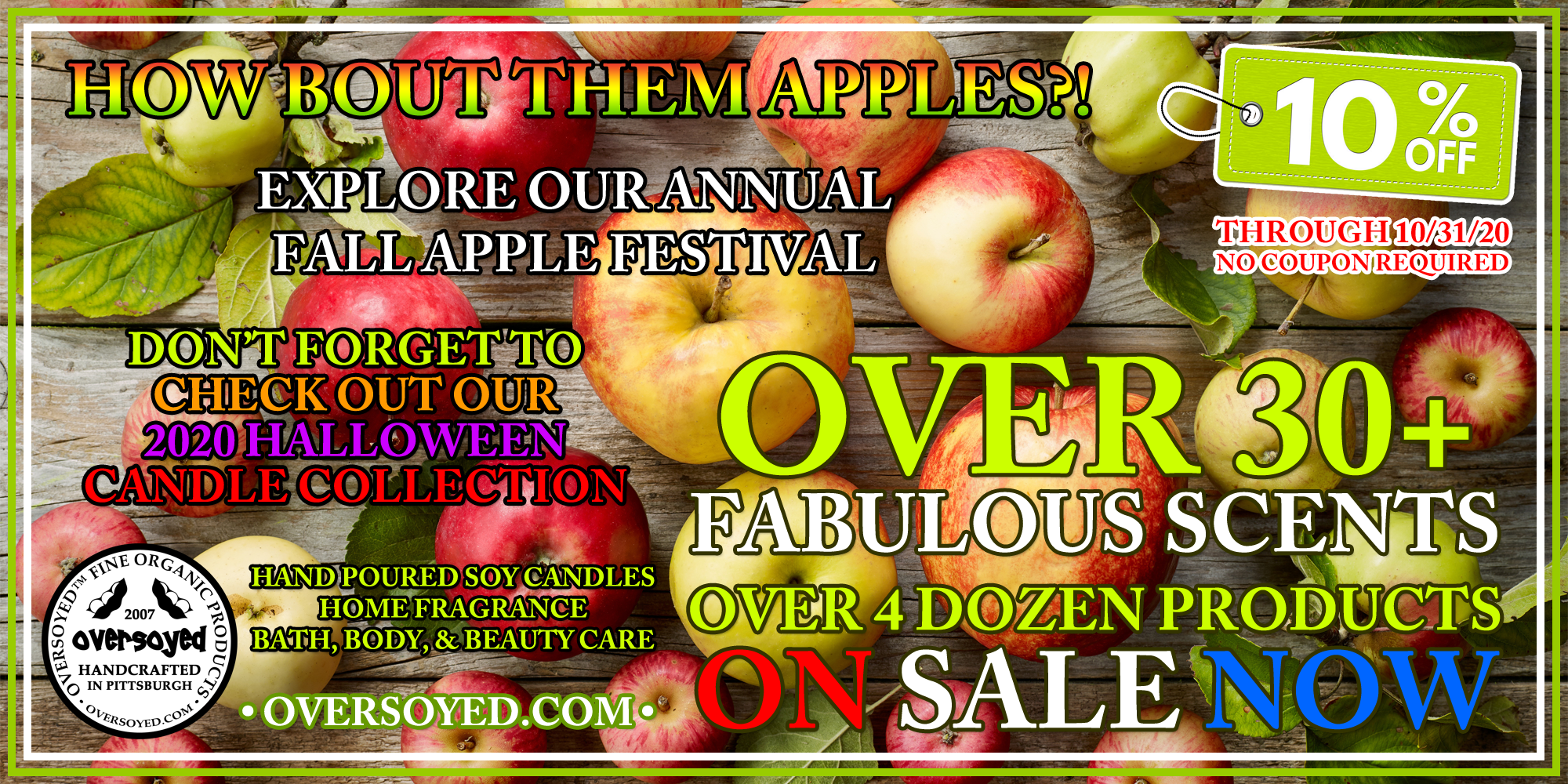 OverSoyed Fine Organic Products Annual Apple Festival