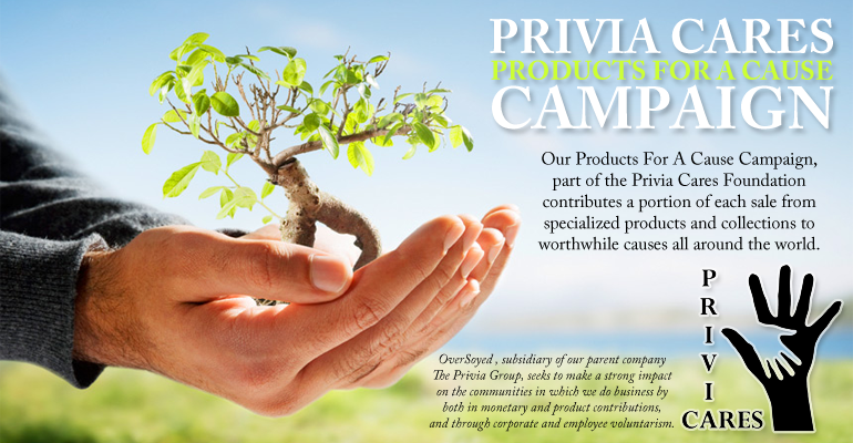 OverSoyed Fine Organic Products - The Privia Group - Privia Cares Foundation - Products For A Cause Campaign