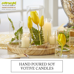 OverSoyed Fine Organic Products - Hand Poured Soy Votive Candle Luminaries