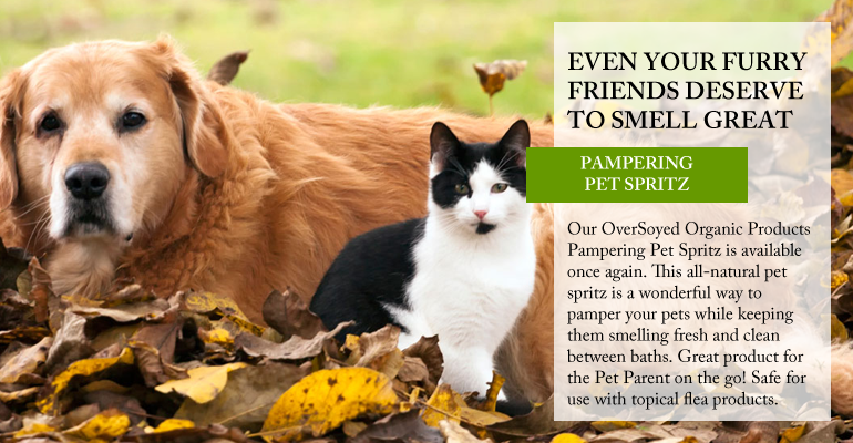 OverSoyed Fine Organic Products - Poshly Pampered Pets™ Deodorizing Pet Spray