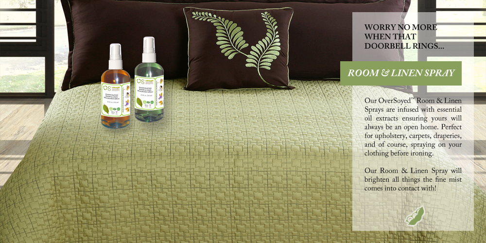 OverSoyed Fine Organic Products - Room & Linen Spray