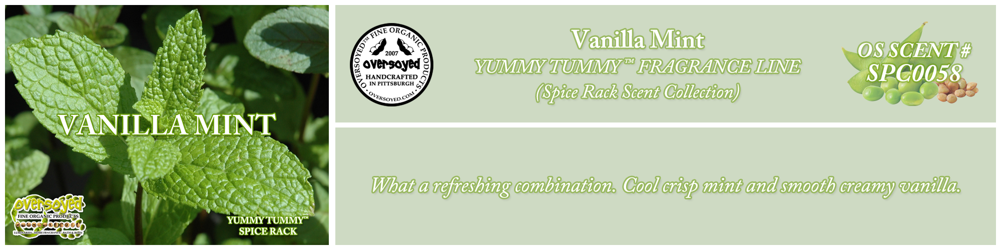 Vanilla Mint Handcrafted Products Collection