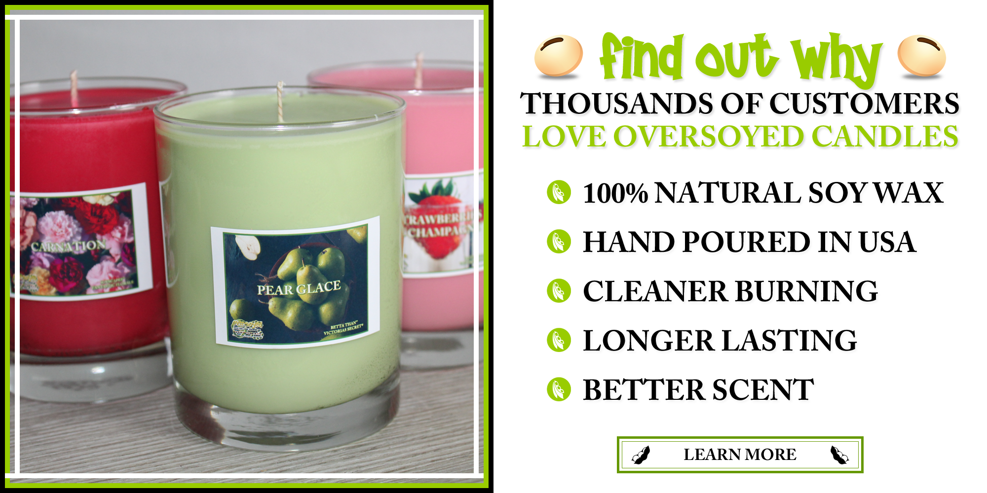 Why Customers Choose OverSoyed Candles?