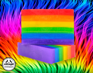 OverSoyed Fine Organic Products Rainbow Pride Beauty Bar Soap