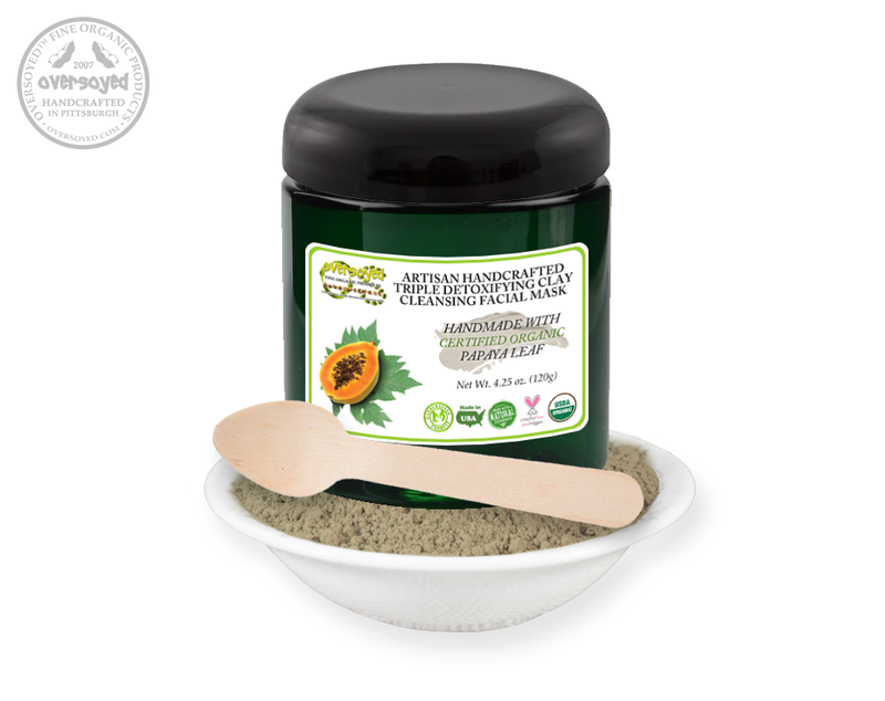 Papaya Leaf Artisan Handcrafted Triple Detoxifying Clay Cleansing Facial Mask